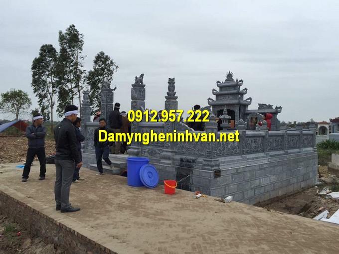 Khu mộ đá được thi công tại Hà Nam