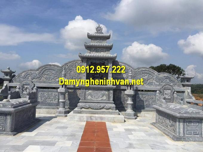 Xây dựng khu lăng mộ đá giá đình đẹp tại Hà Nội