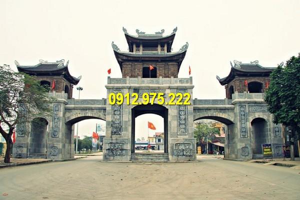 Kiến trúc cổng tam quan được sử dụng làm cổng làng, cổng đền chùa