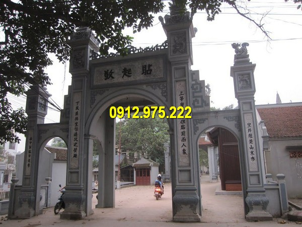 Cổng làng đá – Địa chỉ bán cổng đền đá, cổng trước nhà thờ đá giá rẻ