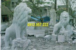 Đá mỹ nghệ Thái Vinh thi công lắp đặt bán sư tử đá trước cổng