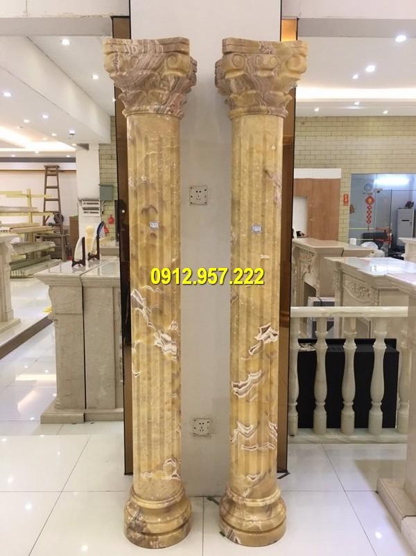 Cột hiên biệt thự bằng đá vàng phong cách châu Âu