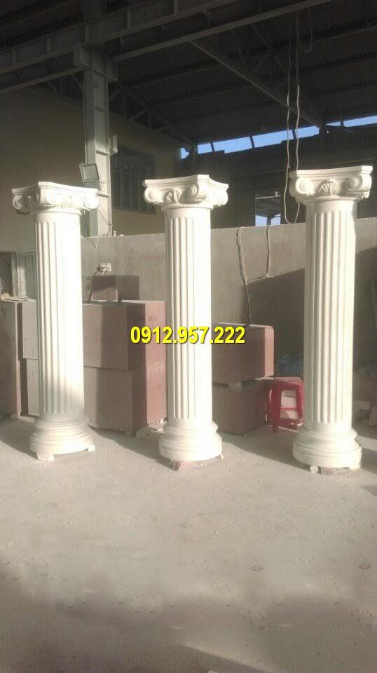 Cột đá trắng phong cách châu âu cho biệt thự nhà riêng