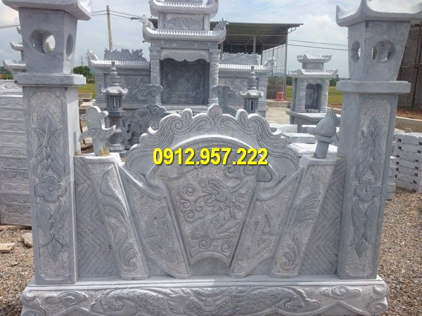 Cuốn thư đá trong khu lăng mộ Ninh Vân