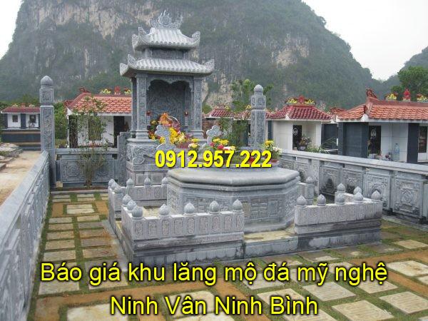 Lăng mộ đá mỹ nghệ Ninh Vân đẹp – Giá lăng mộ đá mỹ nghệ Ninh Vân