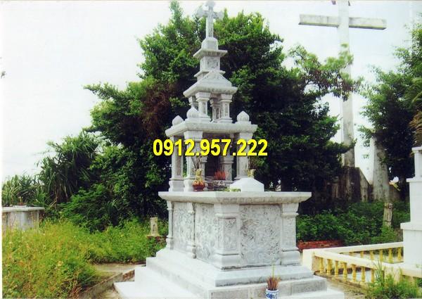 Mộ công giáo đá hai mái