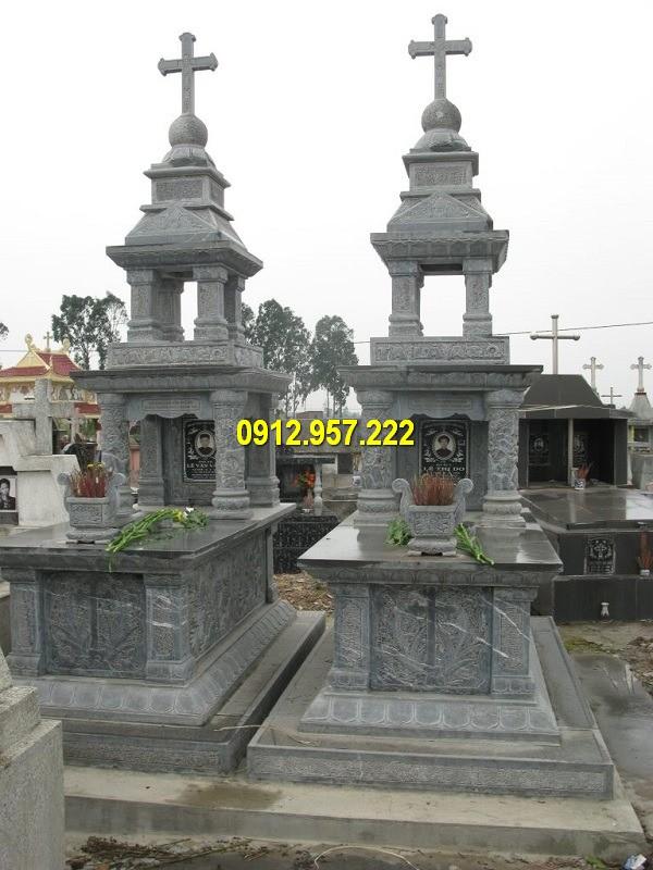 Thiết kế lăng mộ đá công giáo đẹp