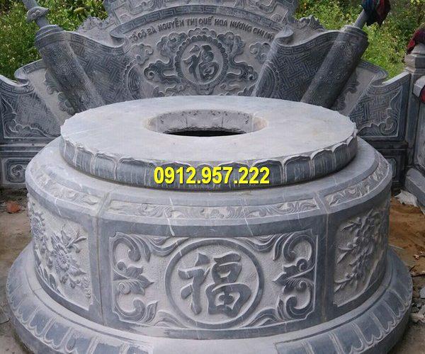 Lăng mộ đá tròn thường được sử dụng làm mộ tổ, là thành phần quan trọng nhất của khu lăng mộ đá