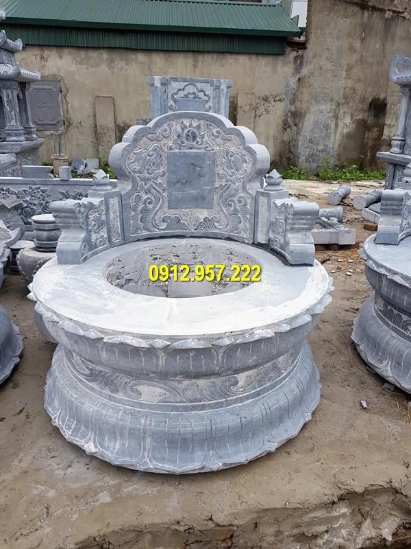 Đá mỹ nghệ Thái Vinh thi công chế tác các sản phẩm mộ đá tròn chất lượng cao
