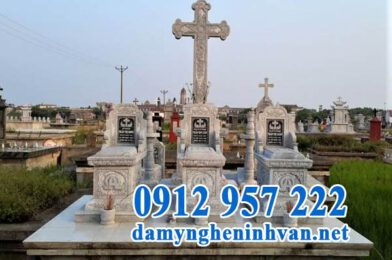 Lăng mộ đá công giáo – Mẫu lăng mộ đá cho người đạo Thiên Chúa