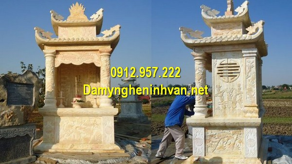 Xây mẫu mộ đá đôi ở Đà Nẵng