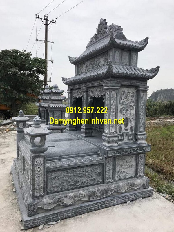 Xây mẫu mộ đá đôi ở Đồng Nai