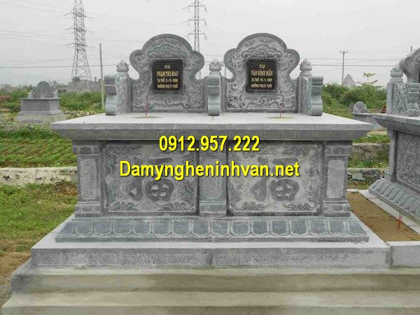 Mẫu mộ đá đôi đẹp - Địa chỉ xây mộ đôi đẹp trên toàn quốc