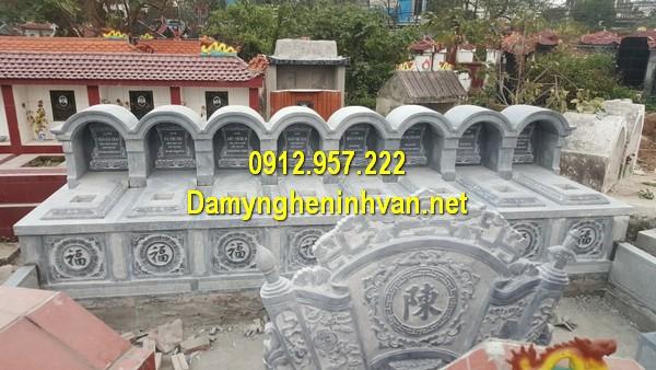 Xây mẫu mộ đá đôi ở Hậu Giang