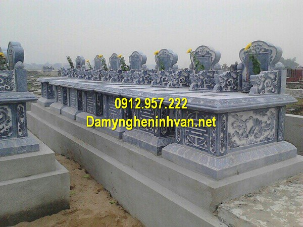 Xây mẫu mộ đá đôi ở Ninh Bình