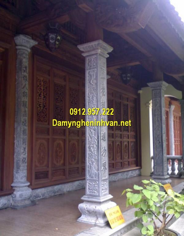 Câu đối chữ Hán khắc cột từ đường