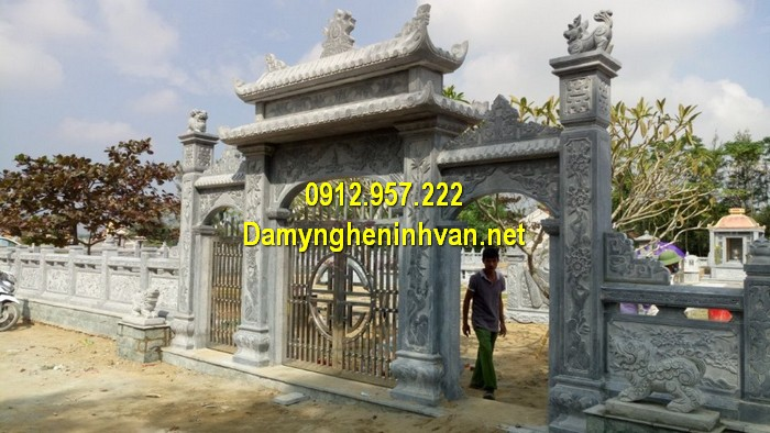 Làm cổng nhà thờ họ đẹp ở Hải Dương