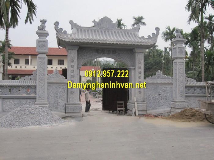 Làm cổng nhà thờ họ đẹp ở Hưng Yên
