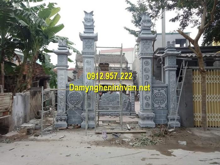 Làm cổng nhà thờ họ đẹp ở Hòa Bình