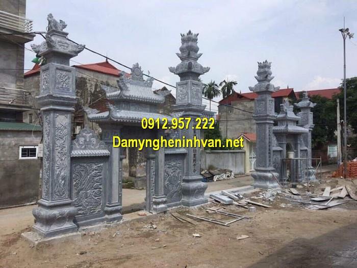 Làm cổng nhà thờ họ đẹp ở Hà Tĩnh