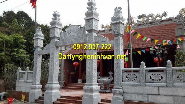 Làm cổng nhà thờ họ đẹp ở Hà Giang