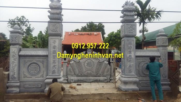 Làm cổng nhà thờ họ đẹp ở Ninh Bình