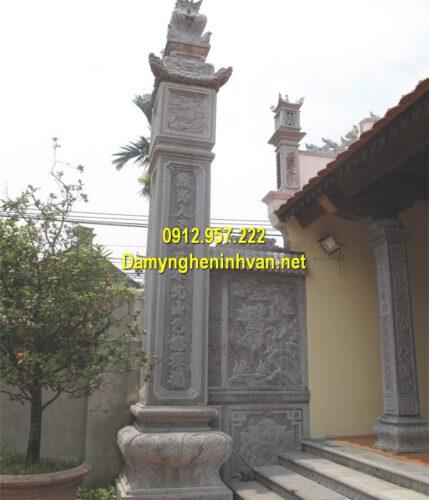 Mẫu cột đồng trụ đá nhà thờ họ
