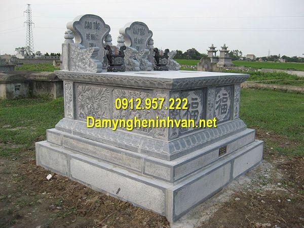 Giá mộ đôi đá khối Ninh Bình