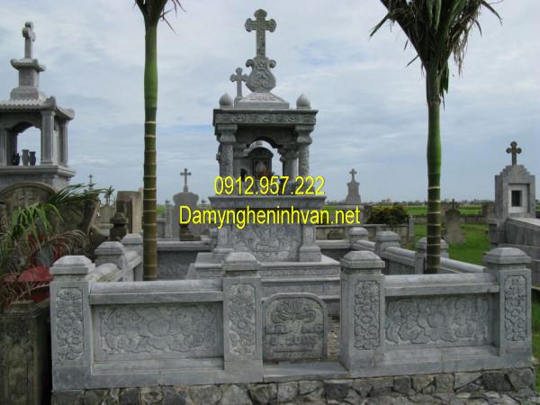 Kiểu lăng mộ đá công giáo đẹp