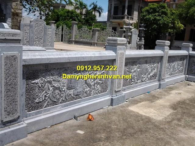 Mẫu tường rào lăng mộ đá