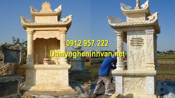 Mẫu mộ đôi đá vàng Ninh Bình