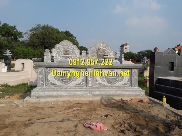 Mẫu mộ đôi xây đẹp - Địa chỉ bán mộ đôi, xây mộ đôi đẹp đơn giản giá rẻ