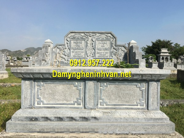 Mẫu mộ đá đôi Ninh Bình – Hình ảnh mộ đá đôi, mộ đôi đá khối đẹp nhất