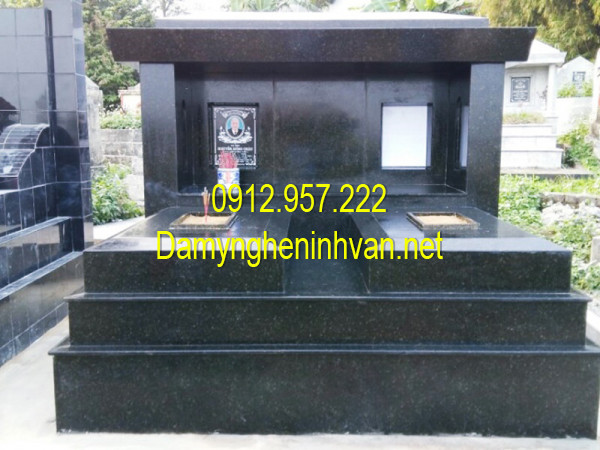 Địa chỉ bán mộ đôi ốp đá granite đẹp