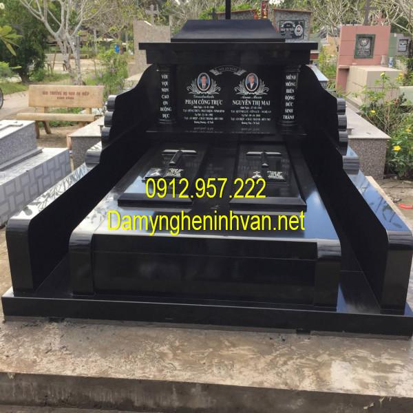 Mẫu mộ đôi đá granite đẹp nhất Việt Nam