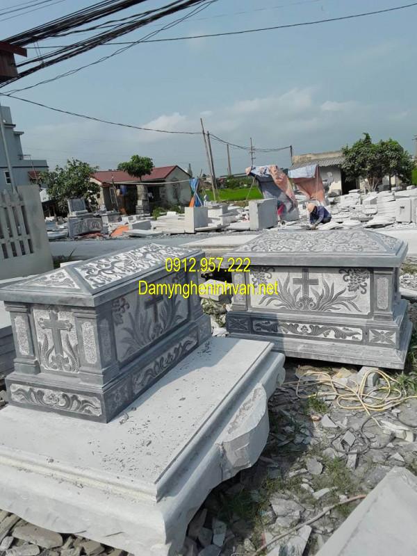 Mẫu mộ đá công giáo đơn giản đẹp