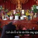Cách sắm lễ và bài văn khấn cúng ngày giỗ đầu