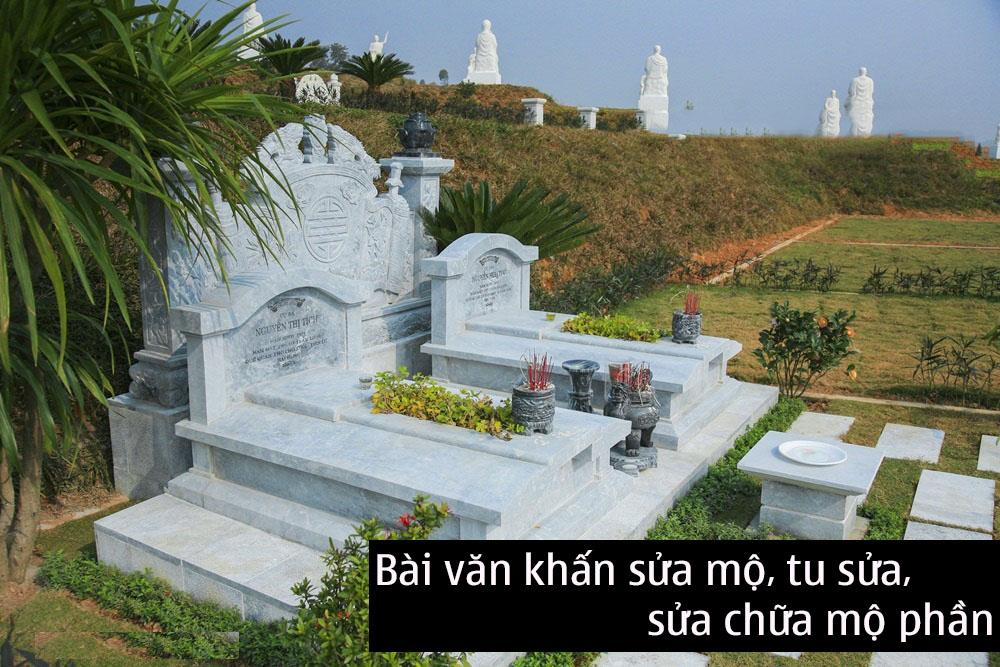 Văn khấn sửa mộ – Bài văn khấn lễ sửa chữa mộ phần chuẩn xác nhất