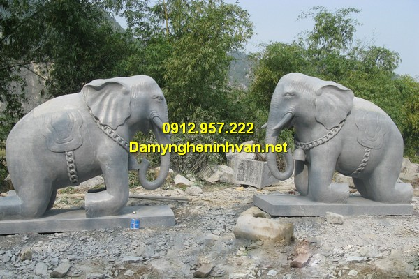 Báo giá tượng con voi đá phong thủy