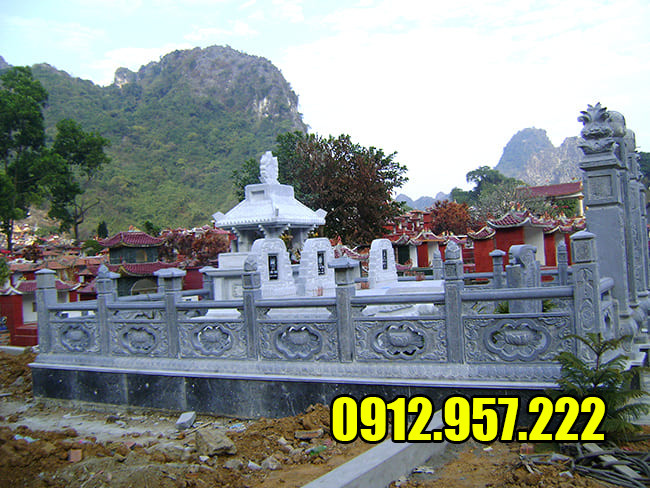 Địa chỉ lắp đặt khu lăng mộ đá giá rẻ tại Ninh Vân