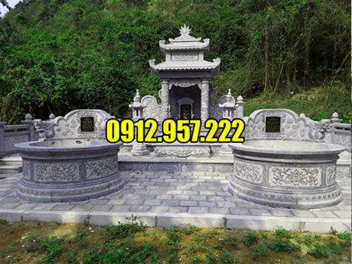 Lăng mộ đá tròn được ưa chuộng tại Ninh Vân