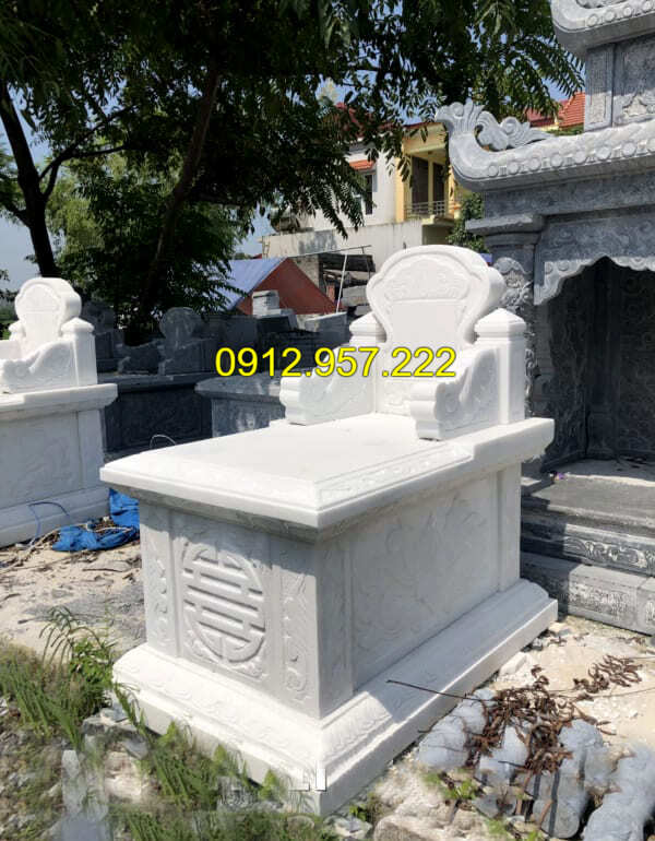 Mẫu mộ đá màu trắng đẹp nhất