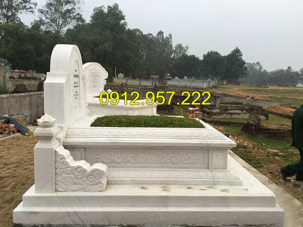 Mộ đá trắng - Địa chỉ lắp đặt khu lăng mộ đá trắng uy tín tại Ninh Vân