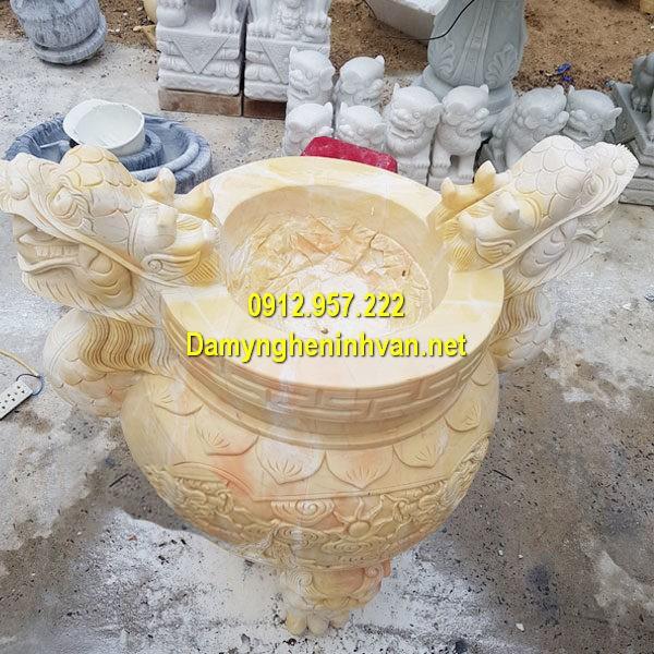 Lư hương đá vàng, bộ lư hương bằng đá vàng chất lượng cao giá rẻ