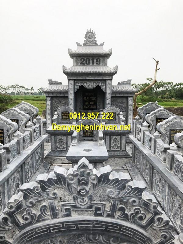 mẫu mộ tổ bằng đá xanh đẹp