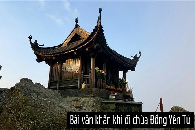 Bài văn khấn khi đi chùa Đồng Yên Tử cầu may xin lộc đầu năm