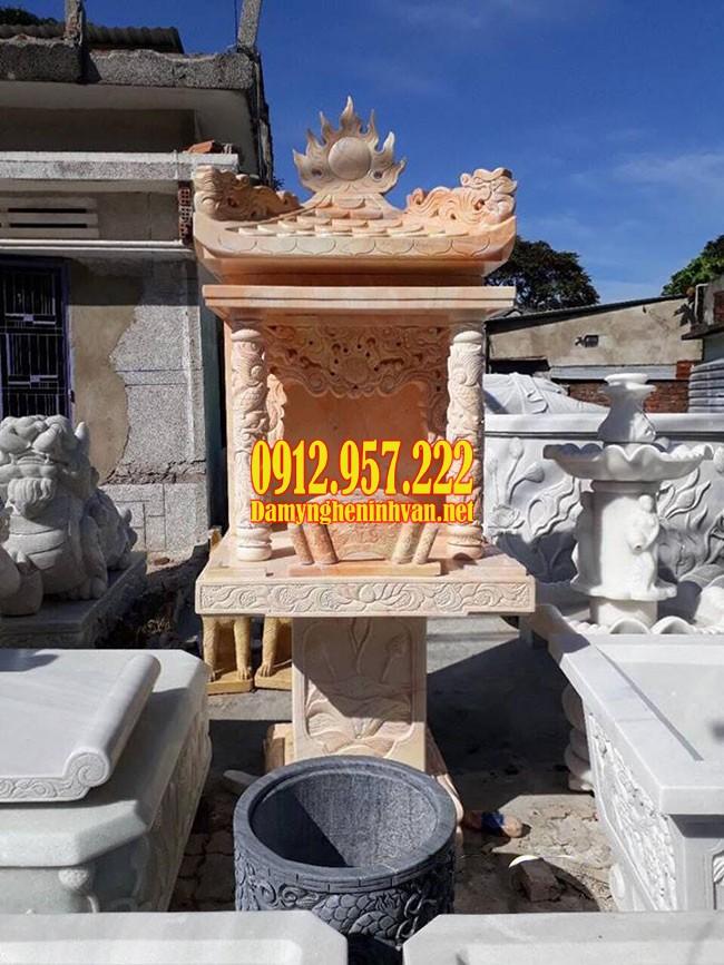 Bàn thờ mẫu bán thiên bằng đá – Báo giá bàn thờ mẫu bán thiên đẹp