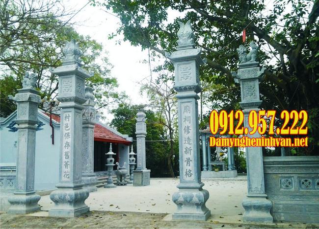Mẫu cột đồng trụ nhà thờ họ, câu đối cột đồng trụ nhà thờ họ hay nhất