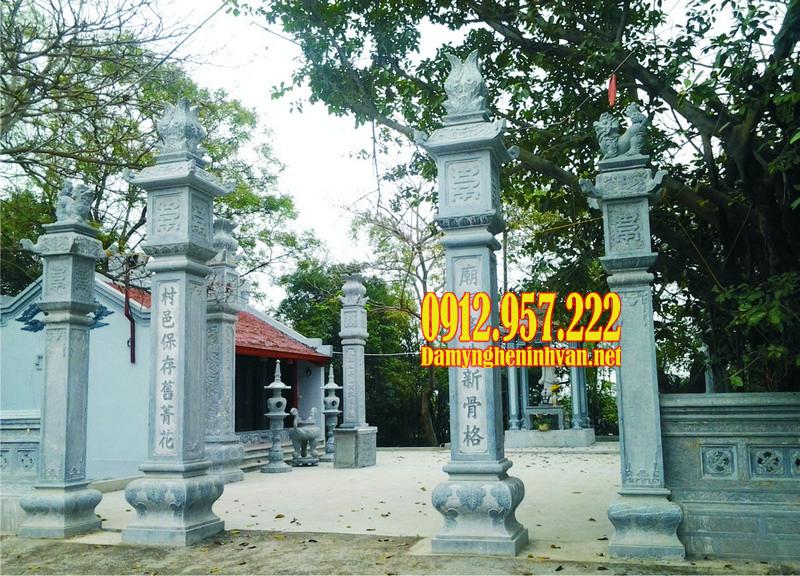 Cột cổng nhà thờ họ bằng đá - Báo giá các mẫu cột đá cổng nhà thờ