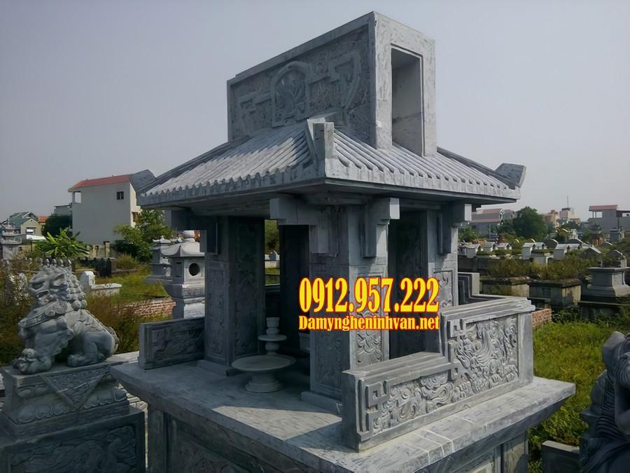 Mẫu lăng mộ 1 mái đá đẹp